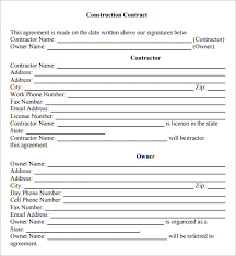 Free Construction Contract Templates