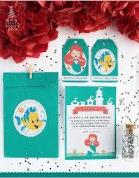 Invitaciones Cumpleaños Sirenita Ariel Incitaciones Personalizadas