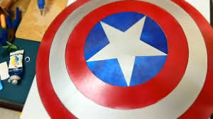 How to Make a Cardboard Captain America Shield for Halloween ...