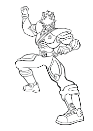 Power Rangers Samurai Gold Ranger Coloring Pages Free Coloring Pages