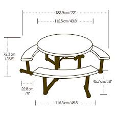 photography of lifetime 44 round picnic table