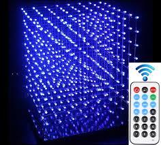 diy lighting effects. DIY 3D 8S LED Light Cube With Animation Effects /3D CUBE 8 8x8x8 Diy Lighting W