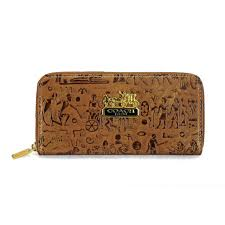 Coach Egyptian Wall Painting Large Brown Wallets EDT