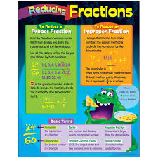 Fraction Chart Up To 30 Details About Reducing Fractions Learning Chart Trend Enterprises Inc T 38024