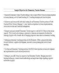 Teacher Resume Objectives Objective For A Teacher Resume Career Objective For Teacher Resume