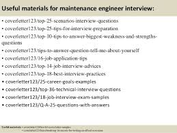 13 useful materials for maintenance engineer maintenance engineer cover letter