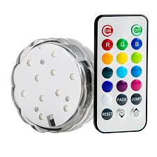 submersible led accent light w infrared remote submersible led accent light w infrared remote