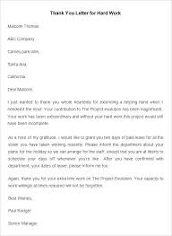 Gratitude Letter Template Employee Thank You Letter Template Free Word Documents With