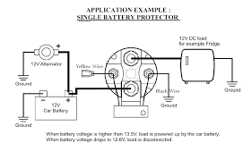 robust inexpensive 12v 150 amp smart battery isolator and smart installation diagram for use as a low voltage batery cuttout