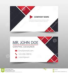 Red Triangle Corporate Business Card Name Card Template