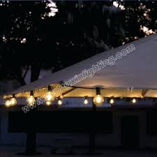 solar powered patio umbrella string lights lighting co rectangular