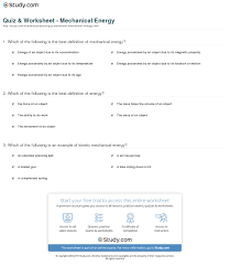 print what is mechanical energy definition examples worksheet