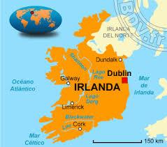 Resultado de imagen para mapa de irlanda