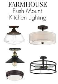 no room for pendant lighting in your small kitchen here are 8 flush mount kitchen lighting fixture ideas that will add that farmhouse style to your space