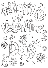 Small Picture Valentines Day Color Pages Happy Valentines Day Coloring Page Free
