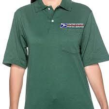 Postal Size Chart Unisex Usps Postal Post Office Short Sleeve Pocket Polos By Pca Etc