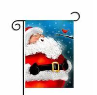 garden flags cheap. Christmas Garden Flags Santa Claus Reindeer Snowman Flag Indoor Outdoor Home Décor Snowflake Party Hanging 30*45cm KKA2352 Cheap A