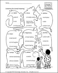 Know More Nouns: Word Meanings – 3rd Grade Language Arts Worksheet ...