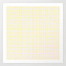 Graph Papper Yellow Graph Paper Art Print By Herart