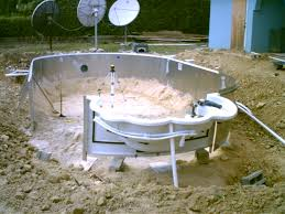 image of diy inground pool installing