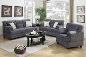 Image is loading Sofa-Set-3-Pcs-Sofa-Loveseat-amp-Chair-