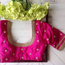 U Neck Saree Blouse Design U Neck Designer Blouse From Nyshka Design Studio Blouse