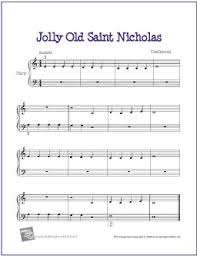 Jolly Old Saint Nicholas | Free sheet music, Sheet music and Free ...