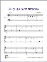 Jolly Old Saint Nicholas | Free sheet music, Sheet music and Free ...
