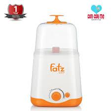 Giảm 35 %】 Máy hâm sữa và tiệt trùng 2 bình cổ rộng thế hệ mới Fatz Baby  FB3012SL