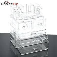acrylic makeup drawer organizer choice fun clear drawer organizer makeup clear acrylic cosmetic organizer makeup storage box