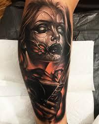 Scary Tattoo Realism By Brandon Herrera Tattoo Idea Scary