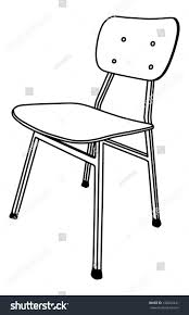Delighful School Chair Drawing Wooden Used In With Design