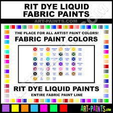 Rit Fabric Dye Color Chart Rit Dye Liquid Fabric Textile Paint Colors Rit Dye Liquid