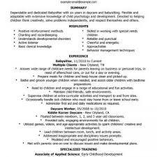 babysitter cover letter resume resume babysitter cover letter glamorous sample resume for babysitting job babysitting babysitting sample resume