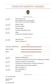 Resume For Food Server Resume Sample Food Server Dining Room Staff Porter Lexusdarkride