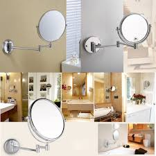 Extendable Mirror Bathroom 8inch Wall Mounted 10xmagnifying Bathroom Makeup Cosmetic Shave