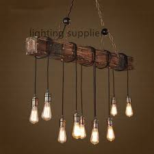 vintage style lighting fixtures. Vintage Style Light Fixtures Loft Creative Wooden Droplight Edison Pendant For Dining Room Hanging Lamp Indoor Lighting E