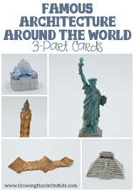 famous architecture in the world. Famous Architecture Around The World Montessori 3-Part Cards For Toddlers, Preschoolers, And In A