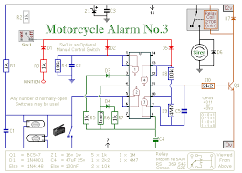 build your own motorcycle alarm circuit diagram of a cmos 4011 4093 based motorcycle alarm