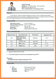 Resume For Freshers Adorable Resume Format For Fresher Mechanical Engineering Students Pdf Be