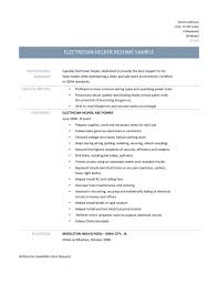 electrician helper resume resumes objective examples ecommerce