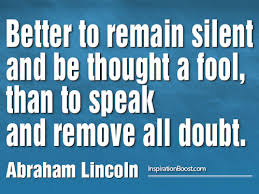 Fool Quotes Fascinating Abraham Lincoln Fool Quotes Inspiration Boost Inspiration Boost