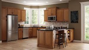 hampton bay hampton wall kitchen cabinets in medium oak