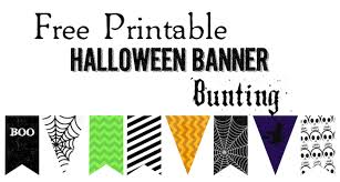 Free Printable Banners Halloween Banner Bunting Free Printable Paper Trail Design