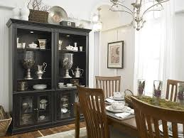 modern dining room hutch. Black Hutch Is The Showstopper In This White, Eclectic Kitchen [Design: Laura Hardin Modern Dining Room L