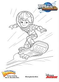Small Picture Disney Junior Coloring Pages Miles From Tomorrowland Coloring Pages