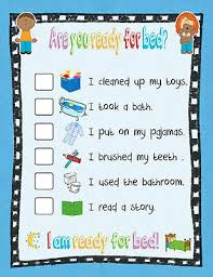 Bedtime Routine Chart Printable A5 Magnetic Childrens Bedtime Routine Chart Picture Poster