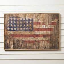 on painted wood american flag wall art with rustic american flag wall art wayfair