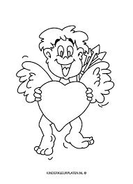 Kleurplaat Valentijn Kleurplaat Feestdagen