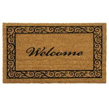 Doormat please remove shoes doormat images : Rubber-Cal Welcome and Please Remove your Shoes 18 in. x 30 in ...